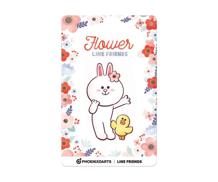 ダーツゲームカード【フェニックス】フェニカ LINE FRIENDS フラワー FLOWERの画像
