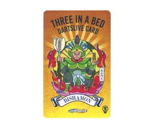 ダーツゲームカード【ダーツライブ】NO.1763 THREE IN A BED