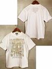 ダーツアパレル【3GGC】MT-04(Flower Skull ホワイト) Tシャツ