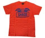 アパレル【シェード】SHADEBAT フェイスロゴTシャツ オレンジ