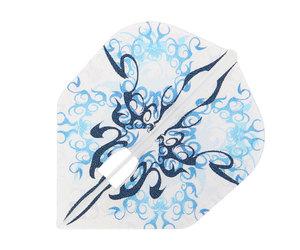 ダーツフライト【エルフライト×クロスデザイン】PRO Ten-kuu 藍 シェイプ シャンパンリング対応