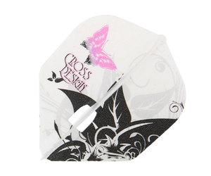 ダーツフライト【エルフライト×クロスデザイン】PRO デイドリーム シェイプ クリアホワイト シャンパンリング対応