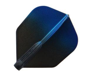 ダーツフライト【フィットフライトエアー×エスプリ】ブラックグラデーション シェイプ ブルー