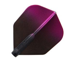 ダーツフライト【フィットフライトエアー×エスプリ】ブラックグラデーション シェイプ ピンク
