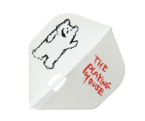 ダーツフライト【エルフライト×クロスデザイン】PRO ザ プレイングハウス スタンダード ホワイト シャンパンリング対応