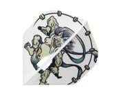 ダーツフライト【エルフライト×クロスデザイン】PRO 風神雷神 スタンダード ホワイト