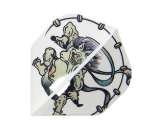 ダーツフライト【エルフライト×クロスデザイン】PRO 風神雷神 スタンダード ホワイト シャンパンリング対応