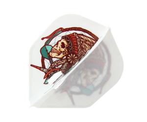 ダーツフライト【エルフライト×ジョニーズクラブ】PRO 安食賢一モデル シェイプ ホワイト