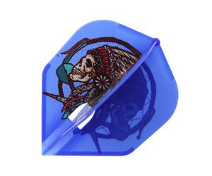 ダーツフライト【エルフライト×ジョニーズクラブ】PRO 安食賢一モデル シェイプ ブルー