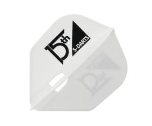 ダーツフライト【フライトエル×エスダーツ】15周年記念ロゴ シェイプ ホワイト