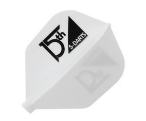 ダーツフライト【フィット×エスダーツ】15周年記念ロゴ シェイプ ホワイト