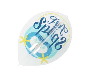 ダーツフライト【エルフライト】PRO 大内麻由美モデル MYM ver.3 ティアドロップ クリアホワイト