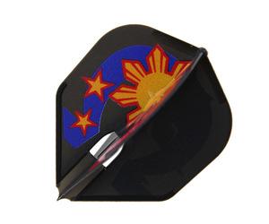ダーツフライト【エルフライト】PRO ローレンス・イラガンモデル ver.3 シェイプ ブラック