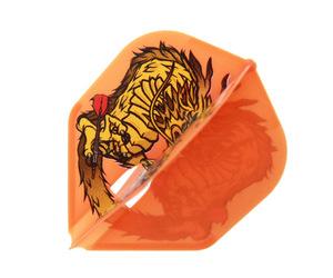 ダーツフライト【フライトエル×ダイナスティー】森窪龍己モデル RYUKI シェイプ オレンジ