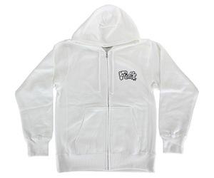 アパレル【フット】ダッジ トラッキン ジップパーカー ホワイト XL