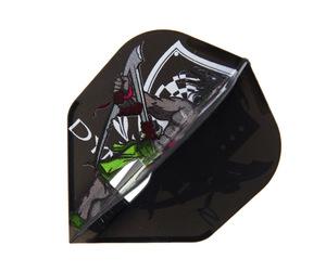 ダーツフライト【エルフライト×ダイナスティー】PRO 水野剛モデル MIZUNO シェイプ ブラック