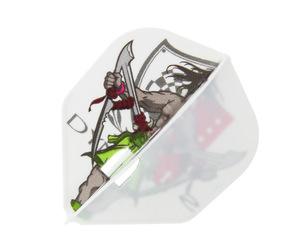 ダーツフライト【エルフライト×ダイナスティー】PRO 水野剛モデル MIZUNO シェイプ ホワイト