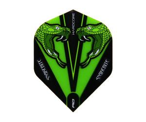 フライト【レッドドラゴン】スネークバイト ピーター・ライトモデル ハードコア トランスペアレント スタンダード グリーン F6416