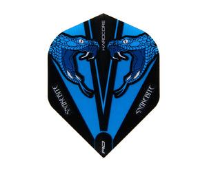 フライト【レッドドラゴン】スネークバイト ピーター・ライトモデル ハードコア トランスペアレント スタンダード ブルー F6417