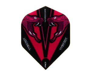 フライト【レッドドラゴン】スネークバイト ピーター・ライトモデル ハードコア トランスペアレント スタンダード ピンク F6418
