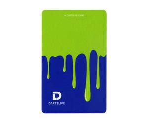 ゲームカード【ダーツライブ】#043 ペンキ グリーン&ブルー