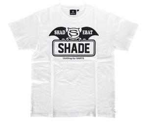 アパレル【シェード】SHADEBAT フェイスロゴTシャツ ホワイト XS