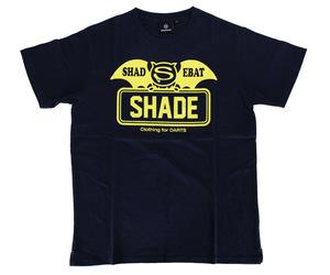 アパレル【シェード】SHADEBAT フェイスロゴTシャツ ネイビー M