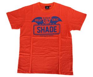 アパレル【シェード】SHADEBAT フェイスロゴTシャツ オレンジ XXL
