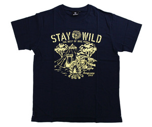 アパレル【シェード】STAY WILD Tシャツ 安食賢一モデル ネイビー L