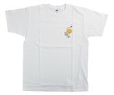 アパレル【コスモダーツ】フルーツオブザルームxコスモダーツ Tシャツ ロイ エヒメ オレンジ ホワイト