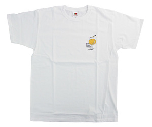 アパレル【コスモダーツ】フルーツオブザルームxコスモダーツ Tシャツ ロイ エヒメ オレンジ ホワイト L