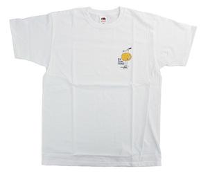 アパレル【コスモダーツ】フルーツオブザルームxコスモダーツ Tシャツ ロイ エヒメ オレンジ ホワイト XL