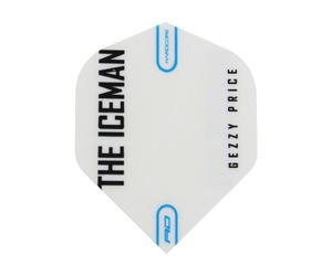 フライト【レッドドラゴン】ガーウェン・プライスモデル ハードコア スタンダード ホワイト&グレー スノーフレーク ロゴ