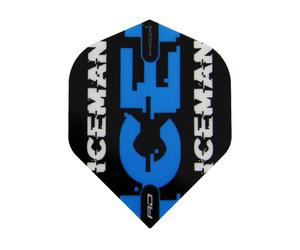 フライト【レッドドラゴン】ガーウェン・プライスモデル ハードコア スタンダード ブラック&ブルー ロゴ