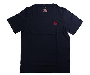アパレル【ターゲット】Tシャツ ネイビーウィズレッド XL