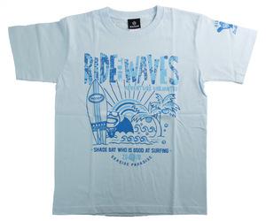 アパレル【シェード】SHADEBAT サマー Tシャツ 2020 ライトブルー M