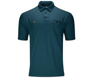 アパレル【ターゲット】フレックスラインシャツ ブルー L 151030