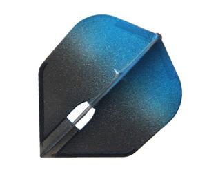 ダーツフライト【エルフライト】PRO シェイプ シャンパンリング対応 グラデーションブラック ブルー