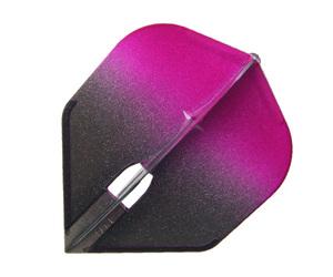 ダーツフライト【エルフライト】PRO シェイプ シャンパンリング対応 グラデーションブラック ピンク