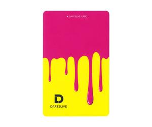 ゲームカード【ダーツライブ】#043 ペンキ ピンク&イエロー