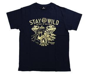 アパレル【シェード】STAY WILD Tシャツ 安食賢一モデル ネイビー M
