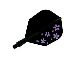 フライト【プテラファクトリー×エスフォー】シャフト一体型フライト シームレス 桜 シェイプ スーパーショート ブラック