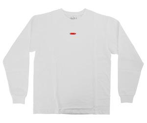 アパレル【コスモダーツ】フルーツオブザルームxコスモダーツ ロングスリーブシャツ ボックスロゴ ホワイト XL