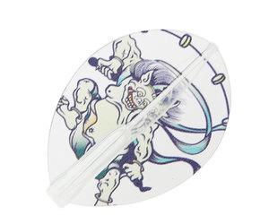 ダーツフライト【フィットフライトエアー×クロスデザイン】風神雷神 ティアドロップ クリア