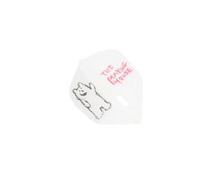 ダーツフライト【エルフライト×クロスデザイン】PRO ザ プレイングハウス シェイプ クリアホワイト シャンパンリング対応
