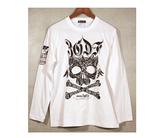 ダーツアパレル【3GGC】MT-14(Feather Skull ホワイト) ロングスリーブTシャツ